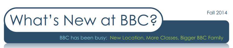 BBC Fall Newsletter 2014